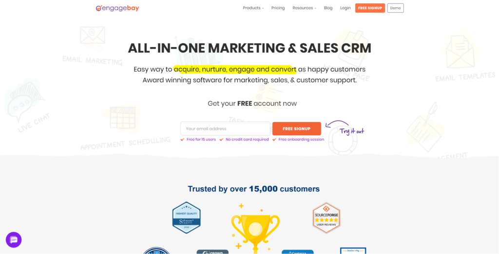 Engagebay solution tout en un crm, venter et marketing