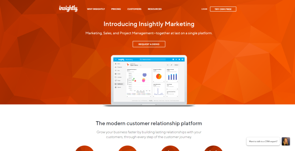 insightly outil crm pour marketing et ventes