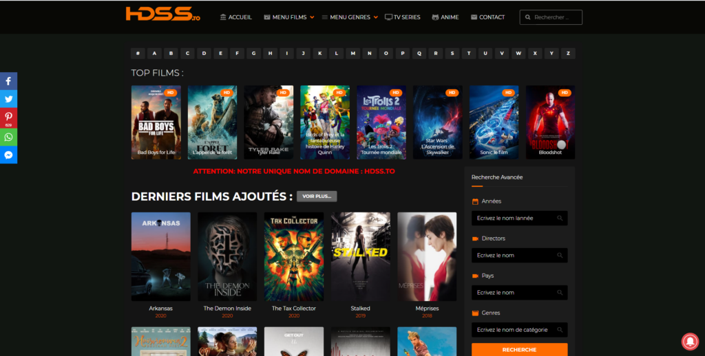 site offrant des séries streaming vf